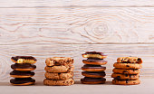 Selection of girl scout cookies
