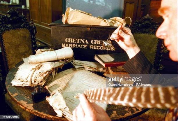 A selection of Gretna Green memorablia and historic marriage certificates dating back to the 18th century which go under the hammer tomorrow {Thurs}...