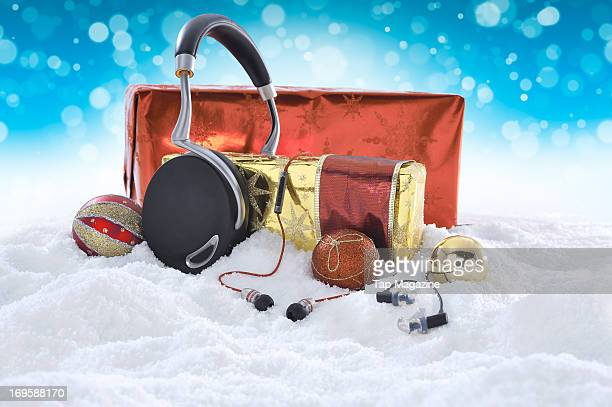 This image has been digitally manipulated A selection of headphones for Apple iOS devices including sets of Parrot Zik Atomic Floyd Superdarts Remote...