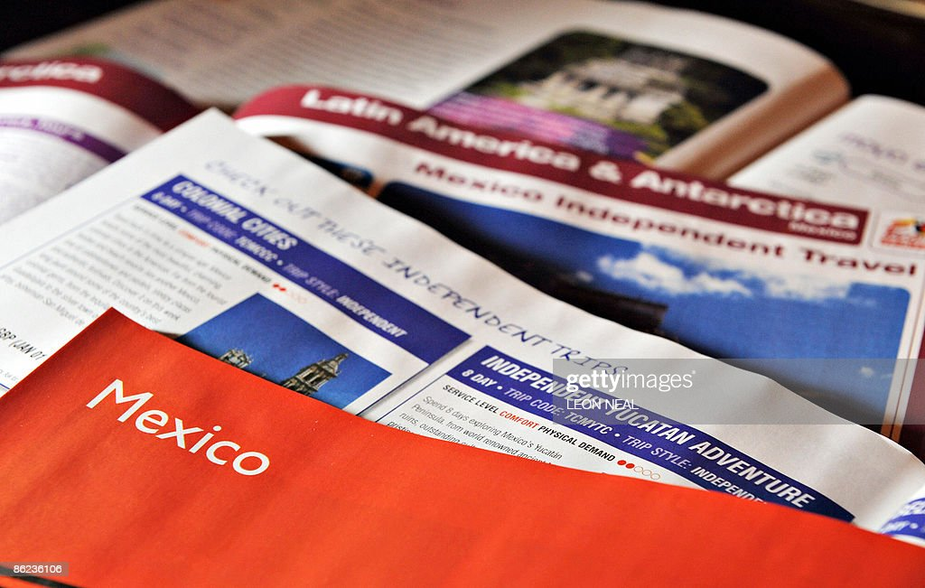 A selection of holiday brochures from travel agents in London