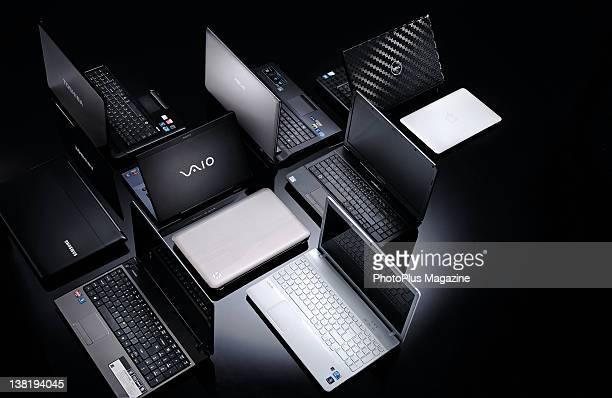 A selection of laptop computers session for PhotoPlus on April 14 2011