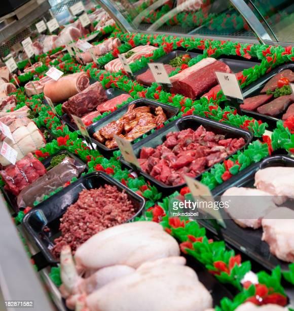 Sélection de viandes à la découpe shop