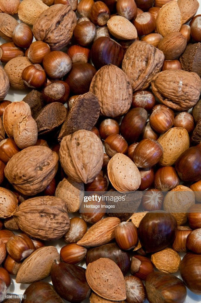 Selection Of Mixed Nuts : News Photo