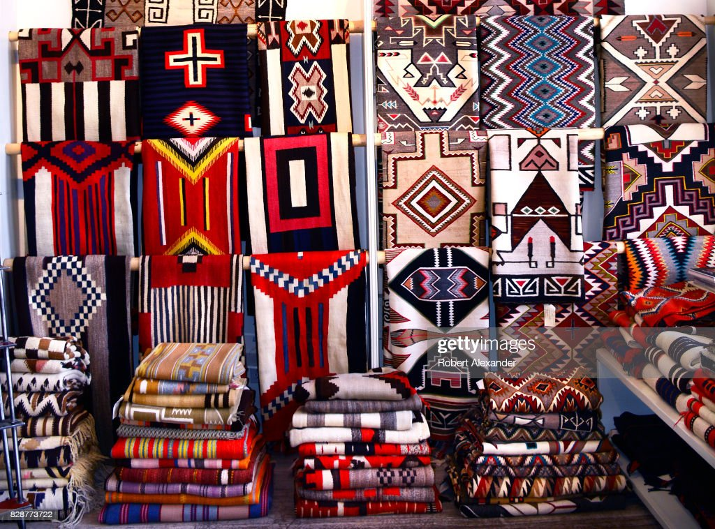 A Selection Of Native American Rugs Made By Weavers From The Navajo Nation For In