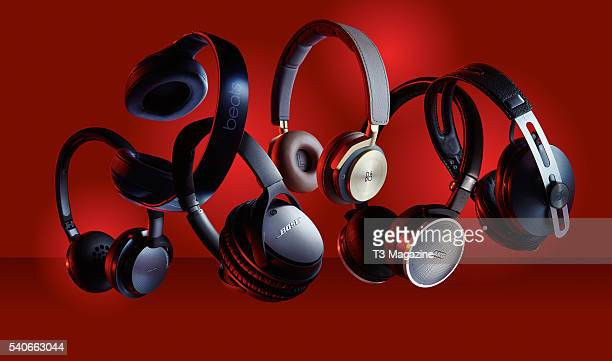A selection of noisecancelling headphones including Philips Fidelio NC1 Beats Studio Wireless Bose QuietComfort 25 Bang And Olufsen BeoPlay H8 AKG...
