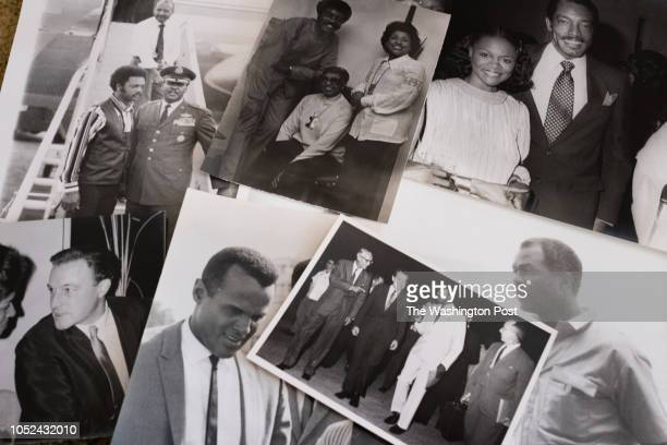 A selection of photographs featuring famous people such as Harry Belafonte Jesse Jackson President Nixon Cicely Tyson Josephine Baker and Marion...