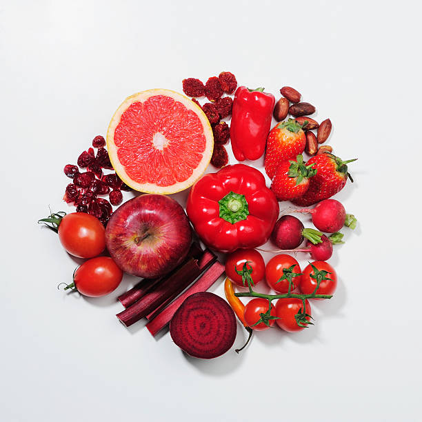 A Selection Of Red Fruits & Vegetables. Wall Art