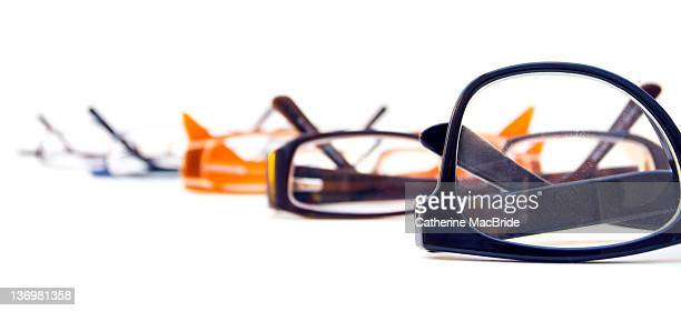 selection of spectacles - catherine macbride stock pictures, royalty-free photos & images