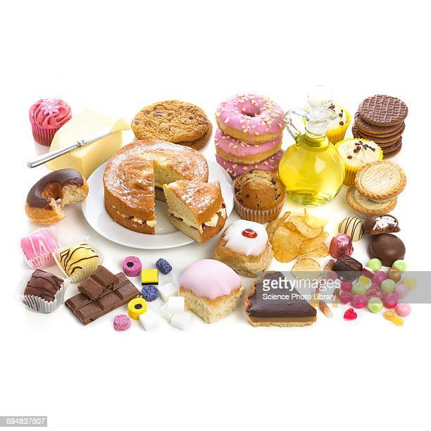 Selection of sweet foods