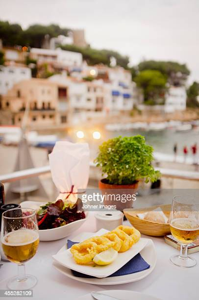 selection of tapas on table - tapas stock photos and pictures