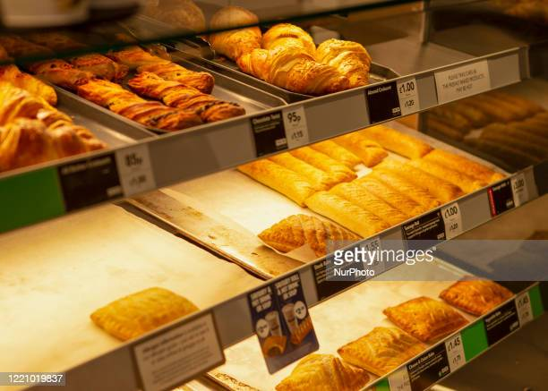 Selection of the food that Greggs offer as Greggs bakery reopens 800 stores nationwide. Greggs closed all of their bakery's due to the lockdown which...