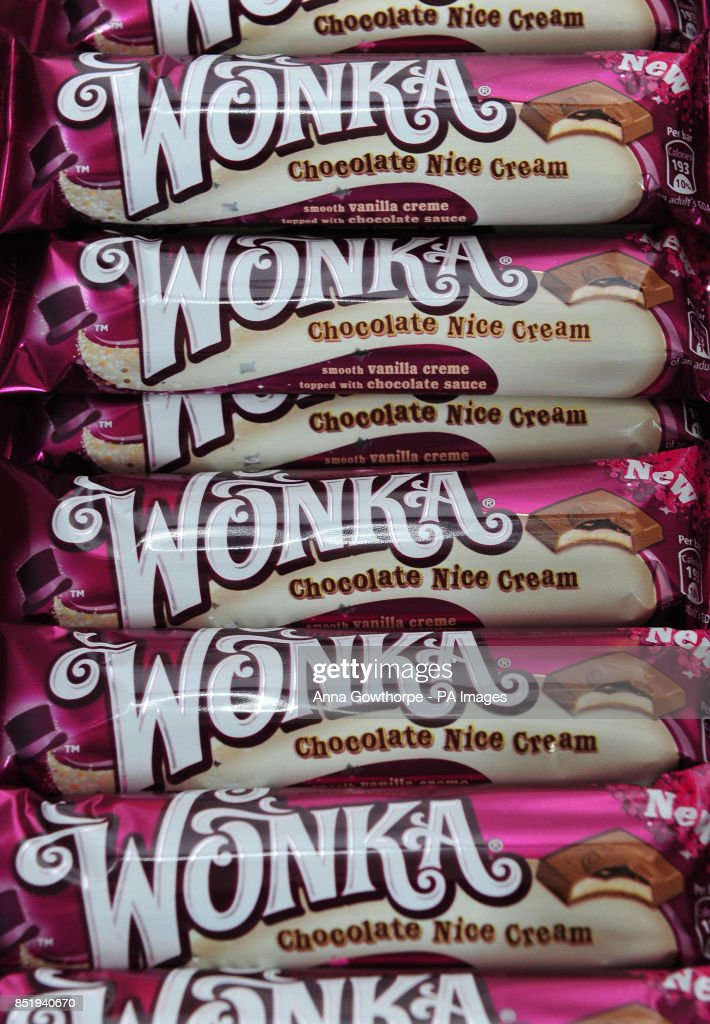 A Selection Of The New Range Of Nestle Wonka Chocolate Bars
