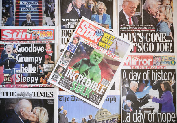 GBR: UK Newspapers React To US Presidential Inauguration