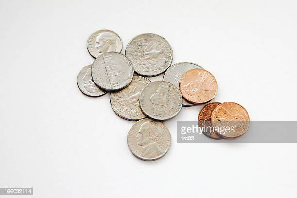 Selection of US coins