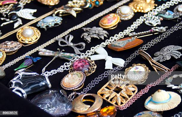 selection of vintage brooches - brooch stock pictures, royalty-free photos & images