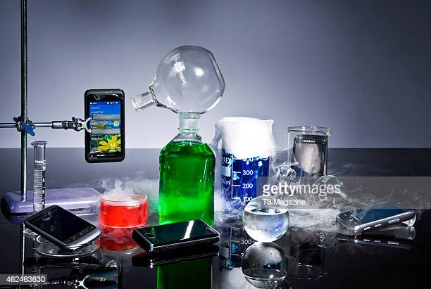 A selection of Windowscompatible smartphones photographed with laboratory equipment taken on October 5 2009