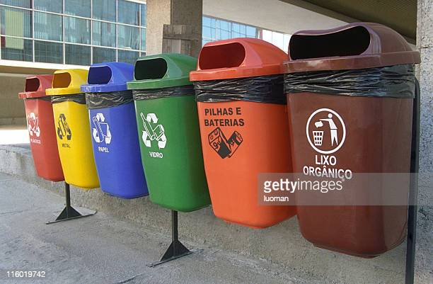 seletiva do lixo - destruição - fotografias e filmes do acervo