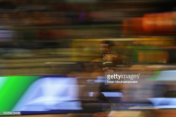 Selemon Barega Ethiopia competes in the Men's 5000m during the IAAF Diamond League AG Memorial Van Damme at King Baudouin Stadium on August 31 2018...