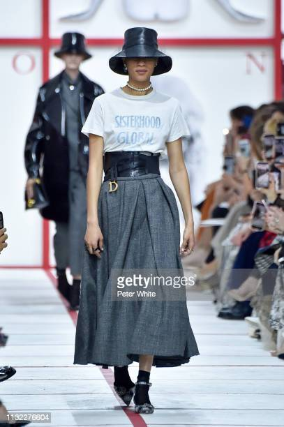 Selena Forrest walks the runway during the Christian Dior show as part of the Paris Fashion Week Womenswear Fall/Winter 2019/2020 on February 26,...