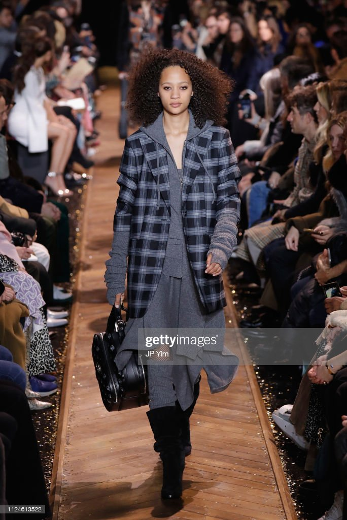 6c561ce845bb Selena Forrest walks the runway during the Michael Kors Collection ...