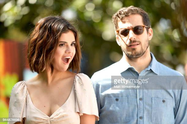 Selena Gomez and Andy Samberg attend the photo call for Sony Pictures' 'Hotel Transylvania 3 Summer Vacation' at Sony Pictures Studios on April 11...