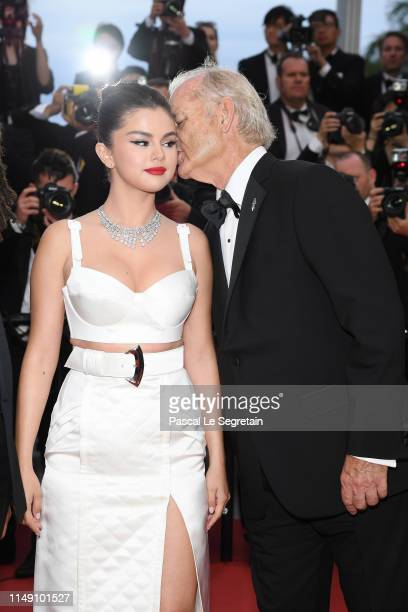 Selena Gomez and Bill Murray attend the opening ceremony and screening of The Dead Don't Die during the 72nd annual Cannes Film Festival on May 14...