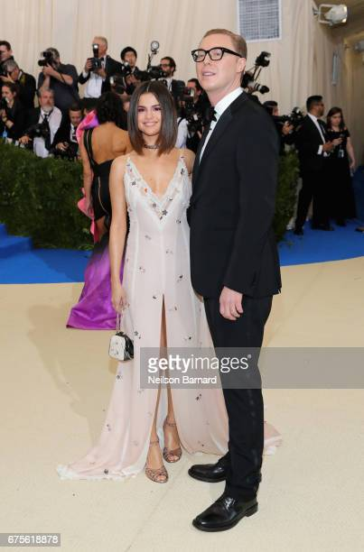 Selena Gomez and designer Stuart Vevers attend the 'Rei Kawakubo/Comme des Garcons Art Of The InBetween' Costume Institute Gala at Metropolitan...