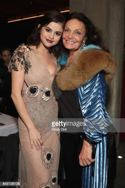 Selena Gomez and Diane von Furstenberg attend the #BoF500 party during New York Fashion Week Spring/Summer 2018 at Public Hotel on September 9 2017...