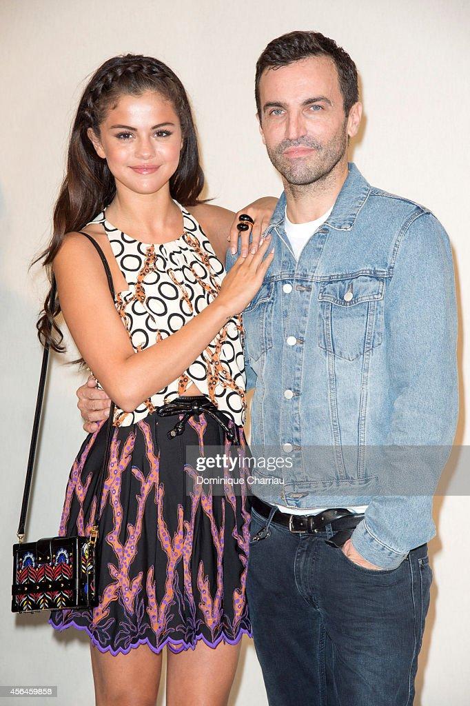 Selena Gomez And Fashion Designer Nicolas Ghesquiere Pose Backstage News Photo Getty Images