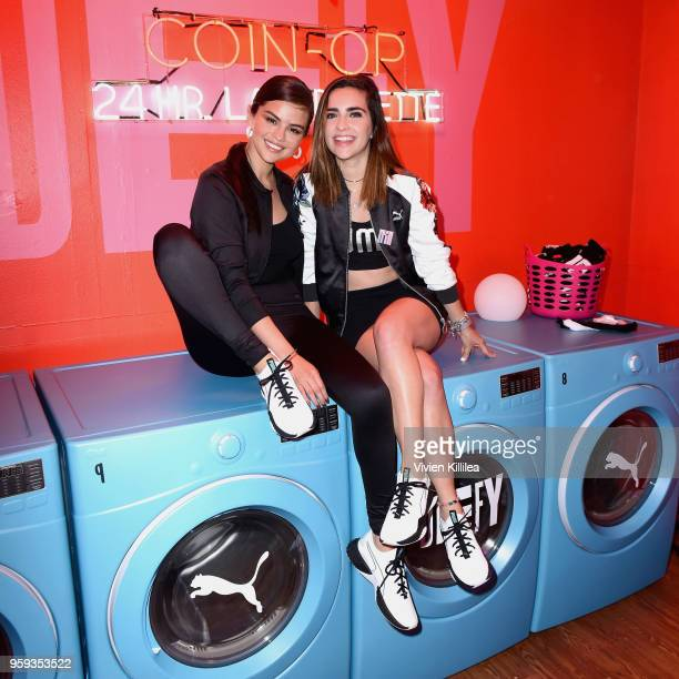 Selena Gomez and Fernanda Urdapilleta visit PUMA Defy City to celebrate launch of PUMA Defy at Paramount Studios on May 16 2018 in Los Angeles...