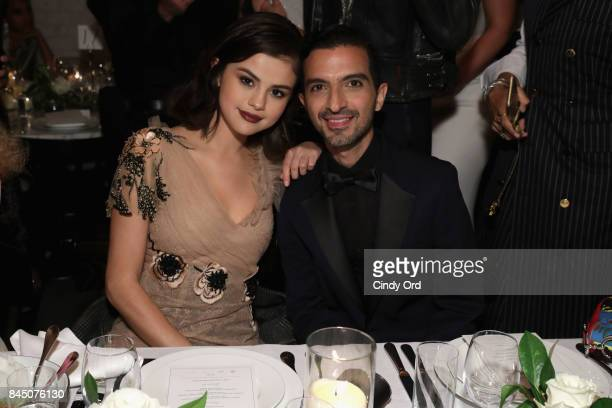 Selena Gomez and Founder and Editor-in-Chief of The Business of Fashion Imran Amed attend the #BoF500 party during New York Fashion Week...