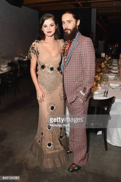 Selena Gomez and Jared Leto attend the #BoF500 party during New York Fashion Week Spring/Summer 2018 at Public Hotel on September 9 2017 in New York...