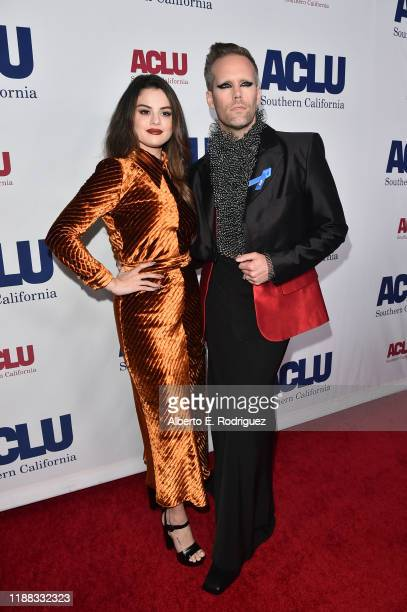 Selena Gomez and Justin Tranter attend ACLU SoCal's Annual Bill of Rights dinner at the Beverly Wilshire Four Seasons Hotel on November 17 2019 in...