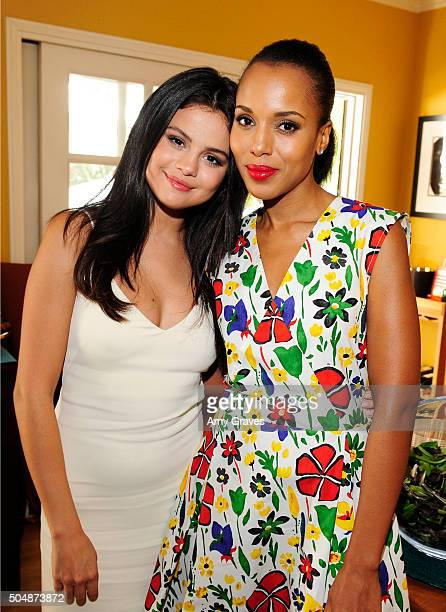Selena Gomez and Kerry Washington attend the Jen Klein Day of Indulgence on August 16, 2015 in Los Angeles, California.