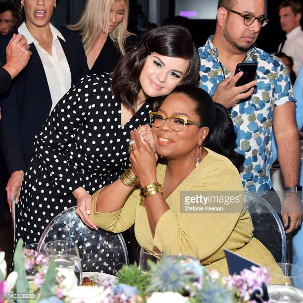 Selena Gomez and Oprah Winfrey attend The Hollywood Reporter's Empowerment In Entertainment Event 2019 at Milk Studios on April 30 2019 in Los...