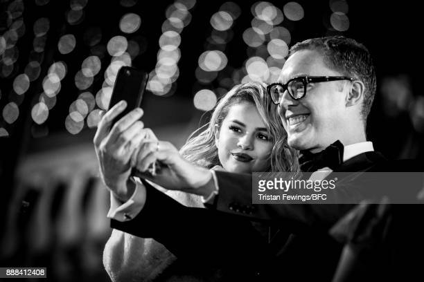 Selena Gomez and Stuart Vevers attend The Fashion Awards 2017 in partnership with Swarovski at Royal Albert Hall on December 4 2017 in London England