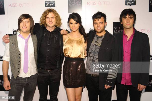 Selena Gomez and The Scene attend the release party for the new album Kiss Tell by Selena Gomez and The Scene at Siren Studios on September 30 2009...