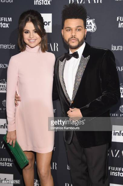 Selena Gomez and The Weeknd attend Harper's BAZAAR Celebration of 'ICONS By Carine Roitfeld' at The Plaza Hotel presented by Infor Laura Mercier...
