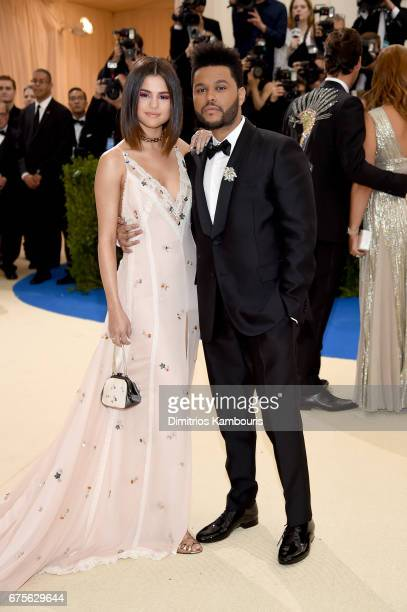 "Selena Gomez and The Weeknd attend the ""Rei Kawakubo/Comme des Garcons: Art Of The In-Between"" Costume Institute Gala at Metropolitan Museum of Art..."