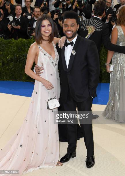Selena Gomez and The Weeknd attend the 'Rei Kawakubo/Comme des Garcons Art Of The InBetween' Costume Institute Gala at the Metropolitan Museum of Art...