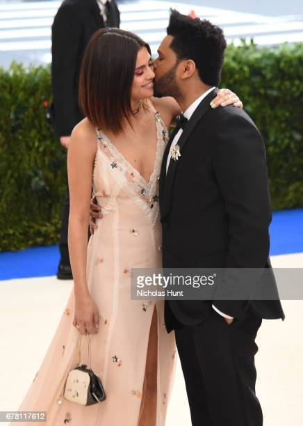Selena Gomez and The Weeknd attend the Rei Kawakubo/Comme des Garcons Art Of The InBetween Costume Institute Gala at Metropolitan Museum of Art on...