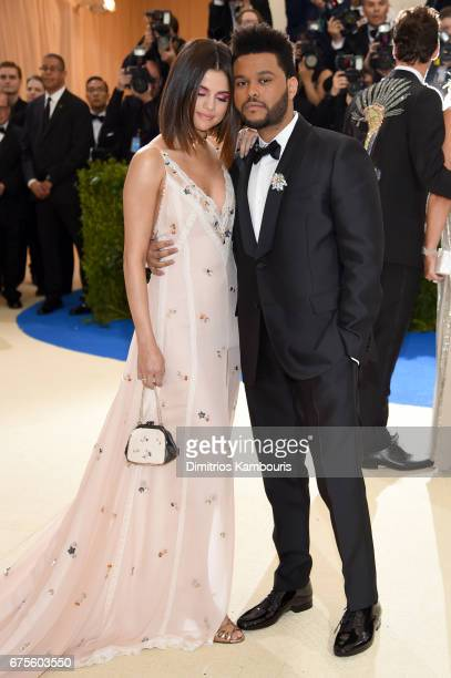 Selena Gomez and the Weeknd attends the 'Rei Kawakubo/Comme des Garcons Art Of The InBetween' Costume Institute Gala at Metropolitan Museum of Art on...