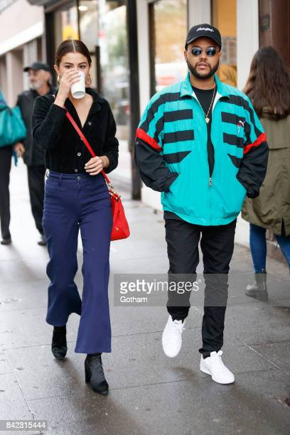 Selena Gomez and The Weeknd go shopping in Soho on September 3 2017 in New York City