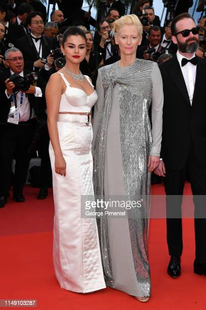 """Selena Gomez and Tilda Swinton attend the opening ceremony and screening of """"The Dead Don't Die"""" during the 72nd annual Cannes Film Festival on May..."""