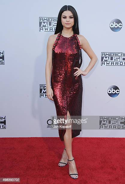 Selena Gomez arrives at the 2015 American Music Awards at Microsoft Theater on November 22 2015 in Los Angeles California