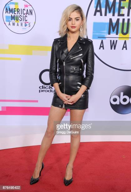 Selena Gomez arrives at the 2017 American Music Awards at Microsoft Theater on November 19 2017 in Los Angeles California