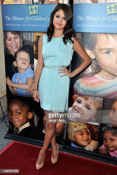 Selena Gomez arrives at the Alliance for Children's Rights 3rd annual celebrity right to laugh event at Avalon on June 12 2012 in Hollywood California