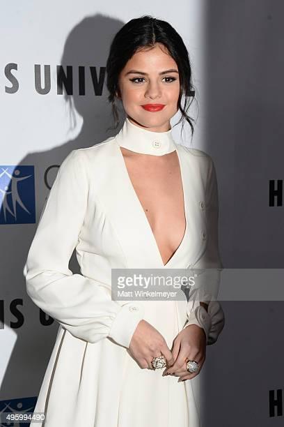 Selena Gomez arrives at the City of Hope's 2015 Spirit of Life Gala at Santa Monica Civic Auditorium on November 5 2015 in Santa Monica California