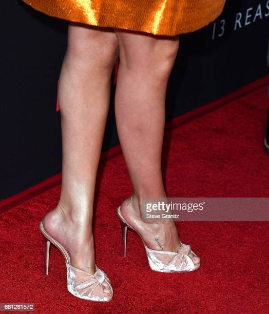 Selena Gomez arrives at the Premiere Of Netflix's 13 Reasons Why at Paramount Pictures on March 30 2017 in Los Angeles California