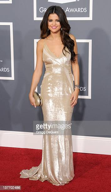 Selena Gomez arrives for the 53rd Annual GRAMMY Awards at the Staples Center, February 13, 2011 in Los Angeles, California.